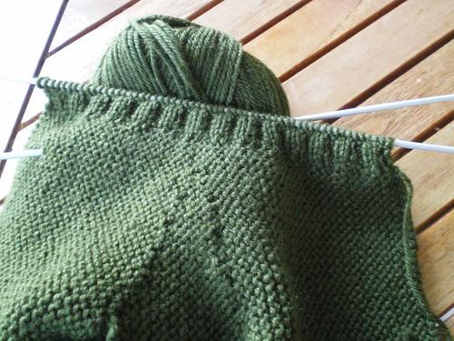 tricot facile rapide gants à 2 aiguilles