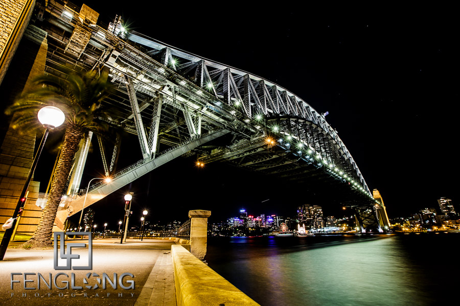 Sydney Harbour Bridge from The Rocks at Night