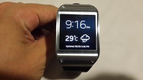Samsung Galaxy Gear จากด้านหน้า