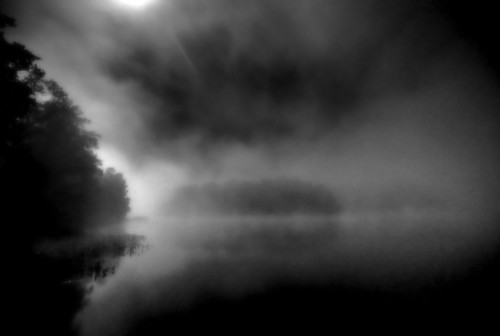 Midnight Fog on the Water