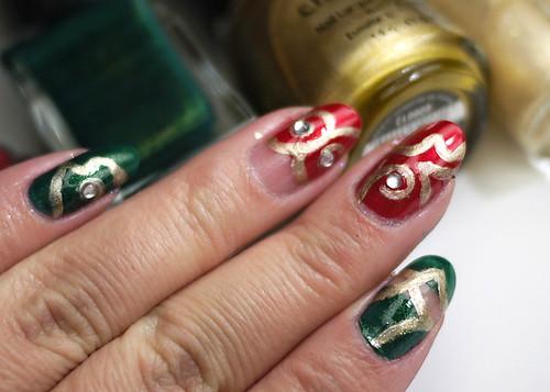 HOliday Nails Ornaments