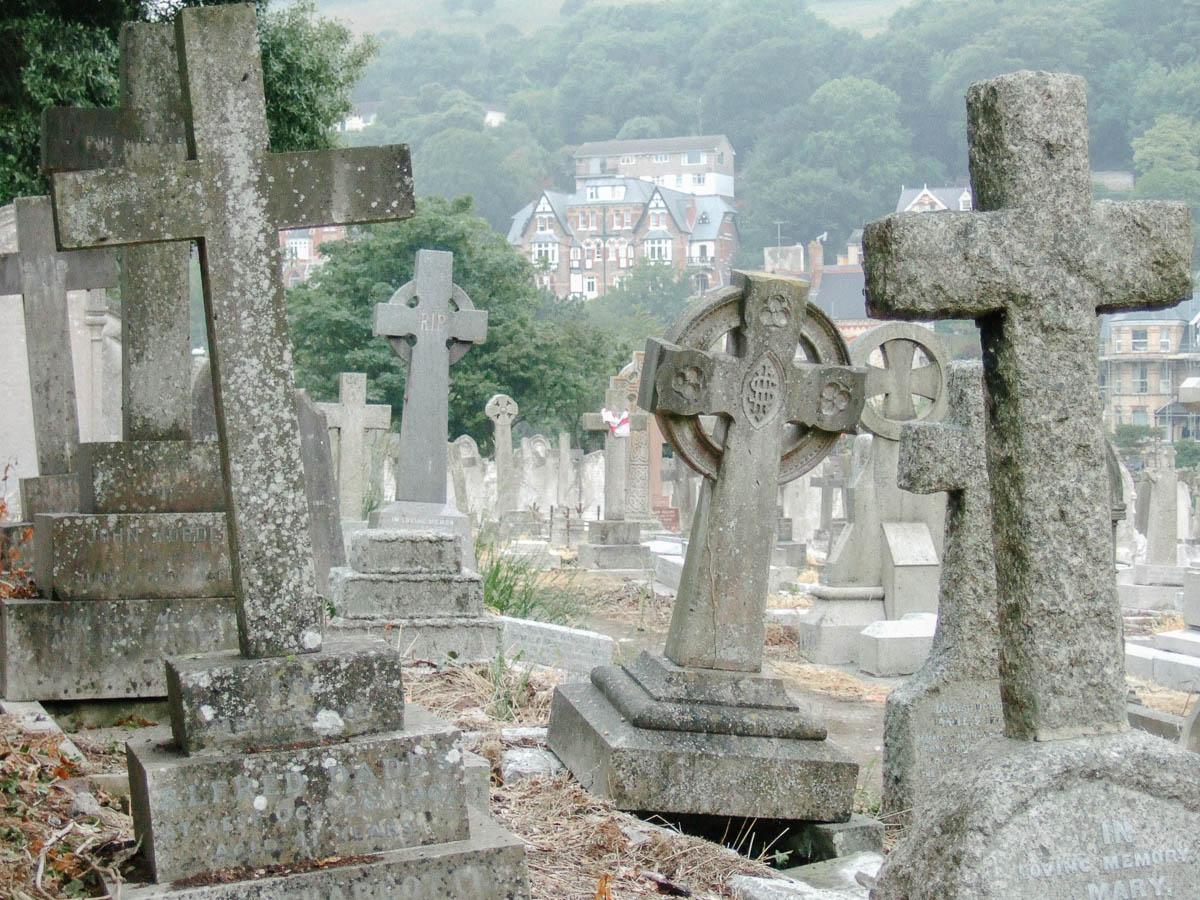 Cementerio en Ilfracombe, Devon