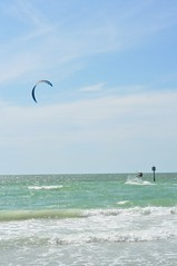 kitesurfing at Clearwater beach, Tampa bay