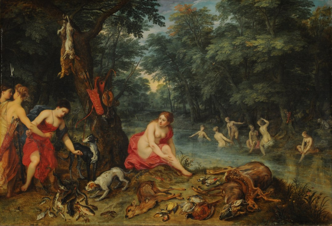 Baño de Ninfas. Obra de Jan Brueghel el Viejo (1568-1625)