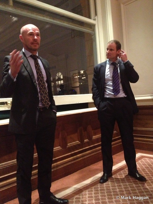 Andrew Strauss and Paul Nixon in the Committee Room at Lord's
