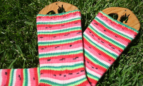 Finished Watermelon Socks 1