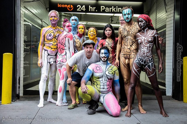 naturist 0012 body paint art, Times Square, New York, NY, USA