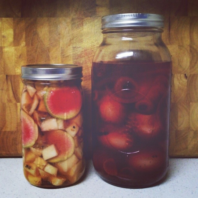 We can pickle that! #pickle #pickles #eyeballs #vegetarian #canning #pickling #preserves #homemade #wecanpicklethat