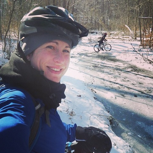 Wheels on snow today. I'm loving this winter so far, even if today's ride did kick my butt and make me want to throw my bike downhill a couple times. #mtb #snow #winter #trails