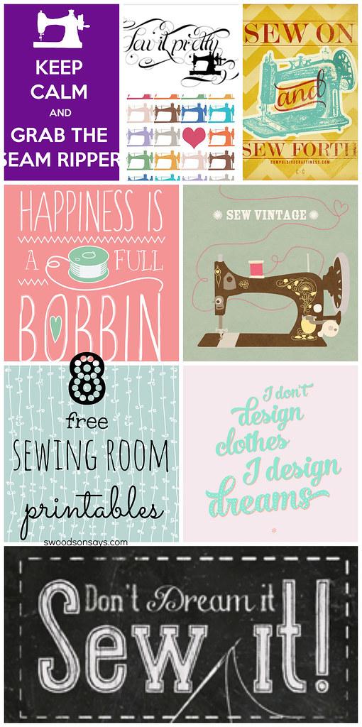 free sewing printables