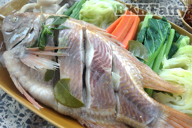 grilled and scored fish rayong thailand