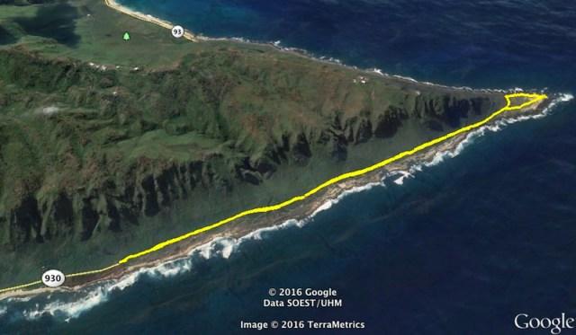 Kaena Point Google Earth Map2