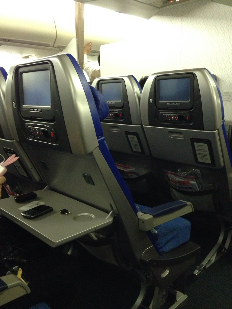 Old Fixed-back Seats on Cathay Pacific