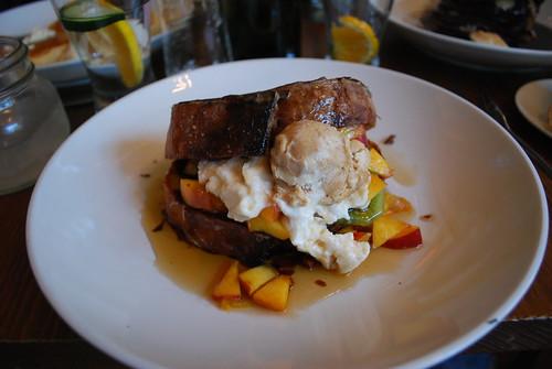 Peach Kiwi French Toast