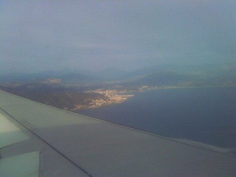 Flying to Corsica
