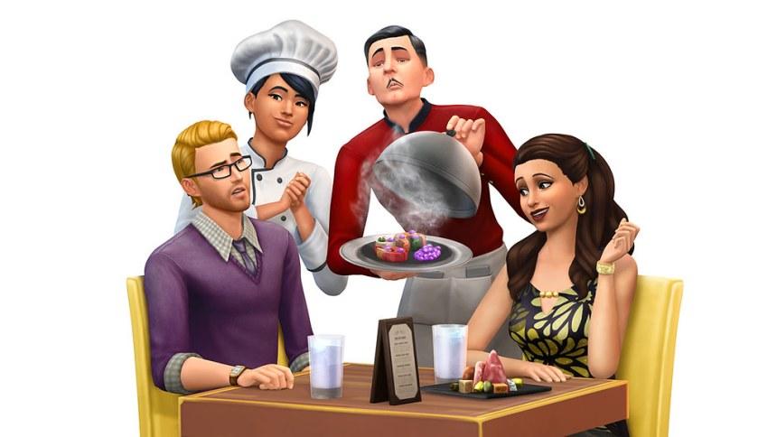 """Render """"Les Sims 4 au restaurant"""""""