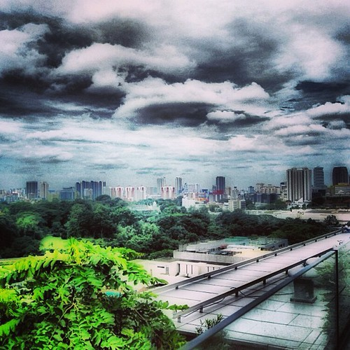 View toward Little India from Orchard Central #singapore by @MySoDotCom
