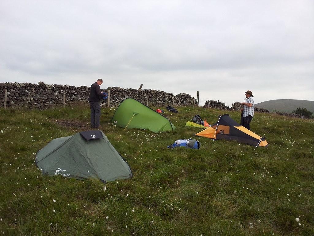 Saturday night's camp on Burbage Edge