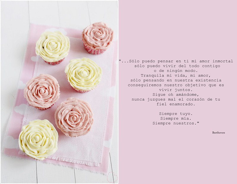 cupcakes de rosa, rosas de frosting, the art of cupcakes, rosa, pink, yellow, amarillo