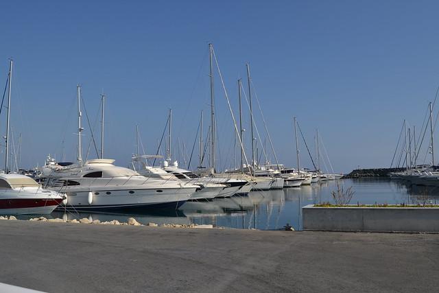 Private yachts at San Rafael Marina, Cyprus