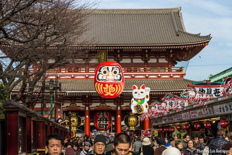 Senso-ji en Asakusa, imprescindible en un itinerario básico por Japón