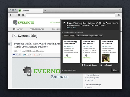 Opera X Evernote Web Clipper