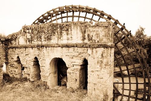 Ancient water wheel on the Guadalquivir, Cordoba