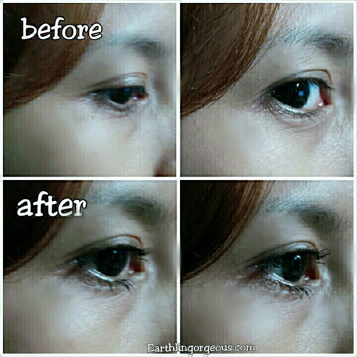 Holika Holika Magic Pole Mascara on my eye lashes