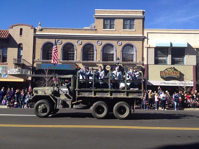 Korean War Veterans Ride In Old Army Truck