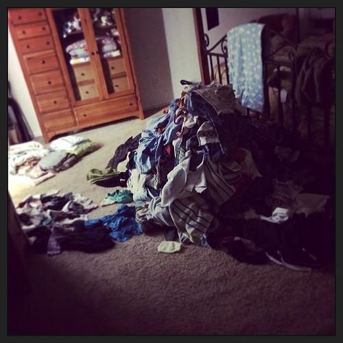 Clean laundry purgatory... #ringwormsaga