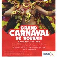 Samedi, c'est le 10eme Carnaval de Roubaix !