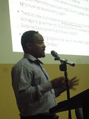 Bedasa Eba introducing his paper