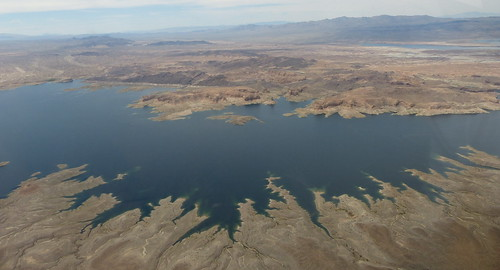 Lake Mead's receding waterline