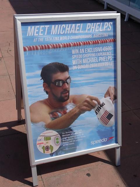 """Meet Michael Phelps"" poster at BCN2013"