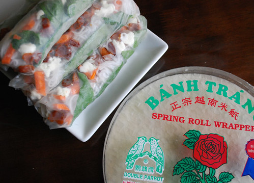 Spring rolls with wrapper