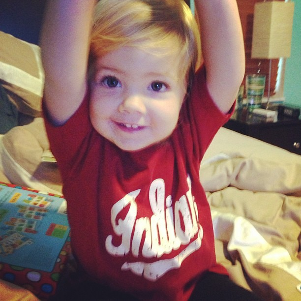 Touchdown! Ready for the game!! #Hoosiers #iufb