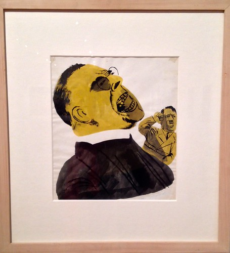 Two men screaming or yelling Hitler & Father Coughlin, Ben Shahn, n.d.