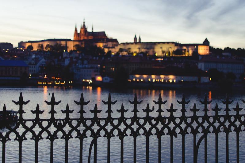 Anochecer en Praga.