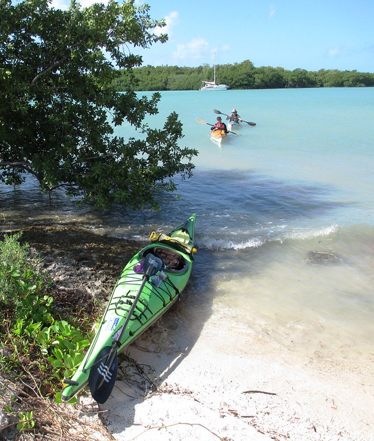 Kayaking to Sombrero Beach in the Florida Keys with Burnham Guides