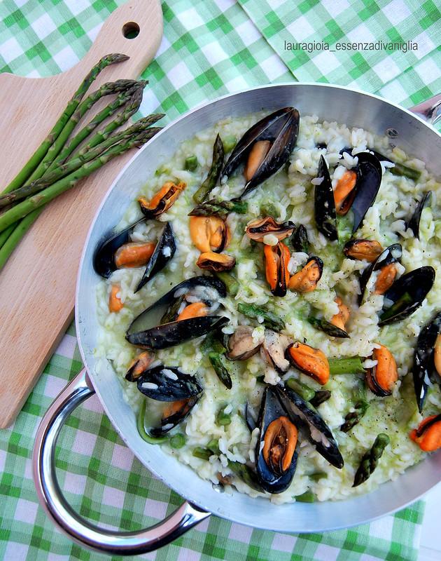 risotto cozze&asparagi (cottura senza grassi)