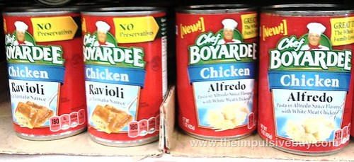 Chef Boyardee Chicken Ravioli and Alfredo