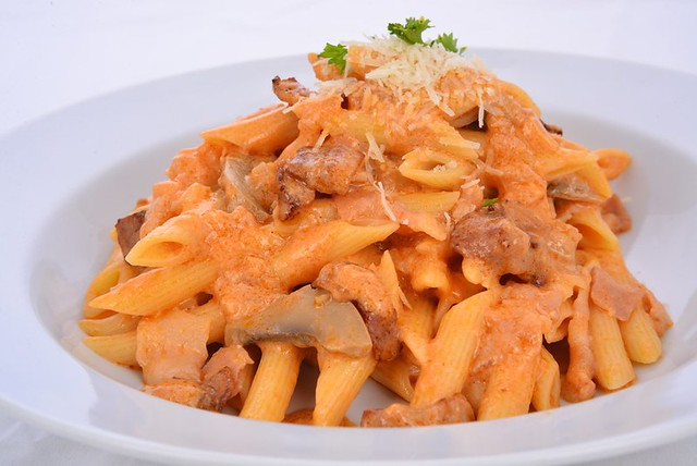 Penne Rosa and Bacon