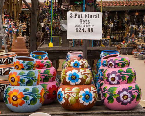 Old Town 3 Pot Floral Sets by Christopher OKeefe