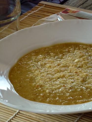 Creamy chicken soup - Crema di pollo