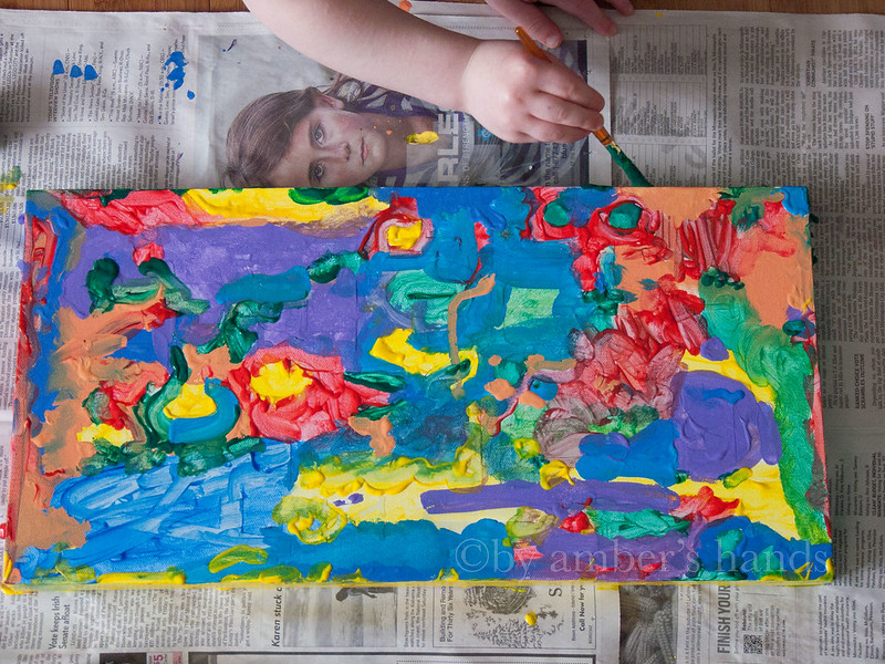 Children's Art Piece -by amber's hands-