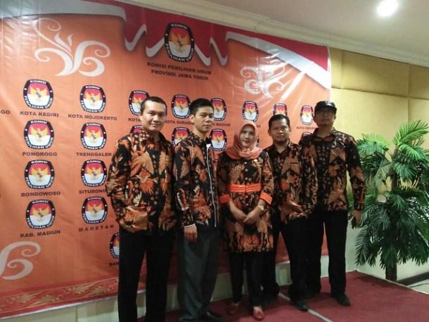 KPU Kab.Tulungagung dalam Acara Rapat Evaluasi(28/4)