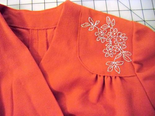 Red Wool Crepe 40s Dress