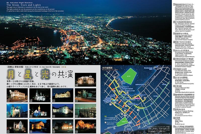 函館元町月星光共演散策路線圖