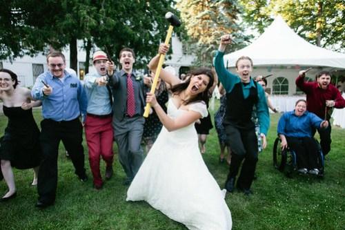 Wand and Sledgehammer war Brides side