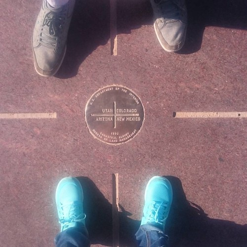 Here we are at Four Corners!